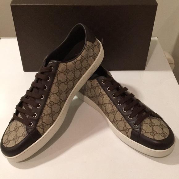 3768a7ced Gucci Shoes | New Biege Cocoa Tessuto Gg Supreme Web 16 | Poshmark